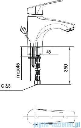 KFA RODON Bateria umywalkowa stojąca chrom 452-825-00