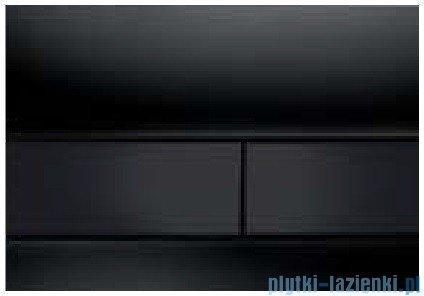 Tece Przycisk spłukujący ze szkła do WC Tecesquare szkło czarne przyciski czarne 9.240.809