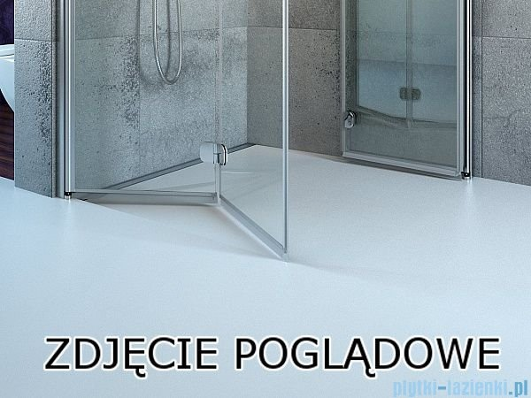 Radaway Eos DWD Drzwi wnękowe 80 szkło intimato 37713-01-12N