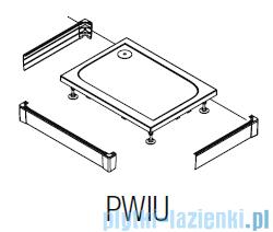 SanSwiss PWIU Obudowa do brodzika 3-stronna 80x100cm czarna PWIU801008006