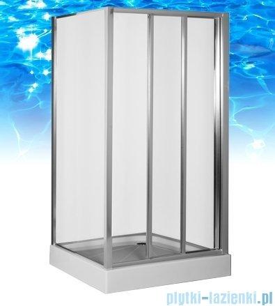 Omnires R kabina prostokątna 140x100x185cm szkło przejrzyste R-140D+R-100STR