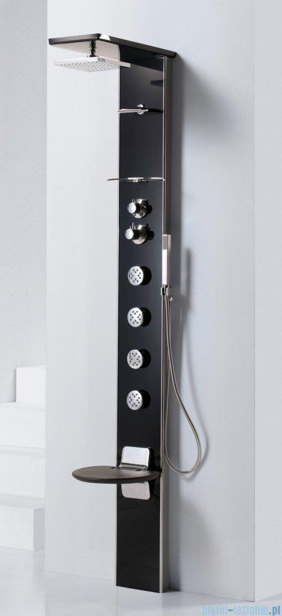 Novellini Aqua 1 Cascata 3 panel prysznicowy biały bateria mechaniczna CASC3VM-A