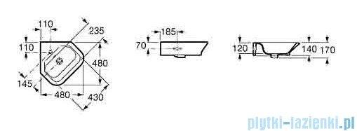 Roca Gap Umywalka narożna 35x35x50cm biała A32747R000