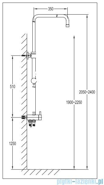 Omnires Darling uniwersalna kolumna natryskowa chrom DA5004