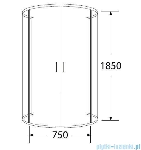 Sea Horse Sigma kabina natryskowa przyścienna półokrągła, 100x80, szkło: chinchilla,   BK002/3/X