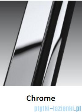 Novellini Drzwi do wnęki z elementem stałym GIADA G+F 168 cm lewe szkło przejrzyste profil chrom GIADNGF168S-1K