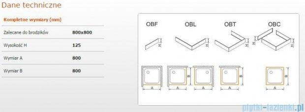 Sanplast Obudowa brodzika OBL 80x80x12,5 cm 625-401-1020-01-000