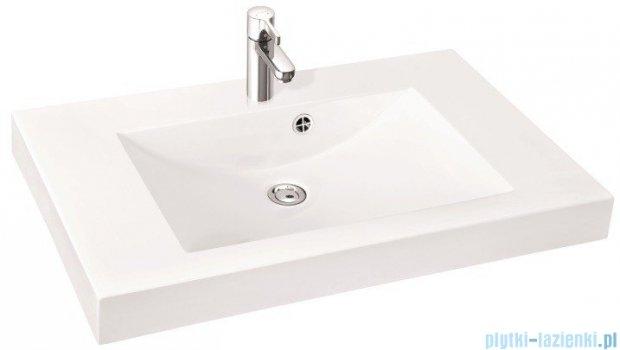 Marmorin umywalka nablatowa Moira Bis 90, 90 cm z otworem biała 280090022011