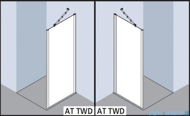 Kermi Atea Ściana boczna, szkło przezroczyste z KermiClean, profile srebrne 75x200cm ATTWD07520VPK