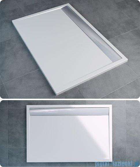 SanSwiss WIA Brodzik konglomeratowy prostokątny 90x140cm biały/czarny WIA901400604