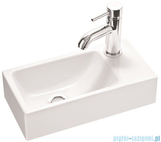 Marmorin umywalka nablatowa Elara 3 bez otworu 40cm biała 410040020010
