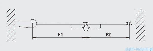 Kermi Diga Drzwi wahadłowo-składane, prawe, szkło przezroczyste, profile srebrne 100x200 DI2DR10020VAK
