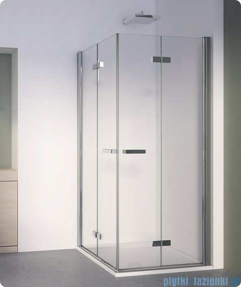 SanSwiss Swing Line F SLF2 Wejście narożne z drzwiami 70cm profil połysk Lewe SLF2G07005007