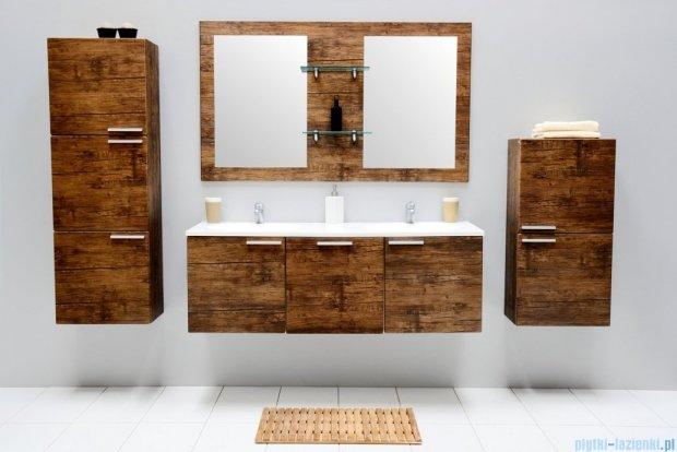 Antado Sycylia Lustro podwójne z półkami 136x80 stare drewno KTS-L2-80x136-50