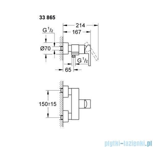 Grohe Lineare jednouchwytowa bateria prysznicowa 33865000