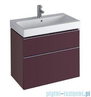 Keramag Icon Szafka wisząca pod umywalkowa 74cm burgund połysk 840376