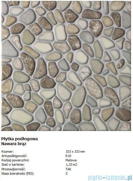 Domino P-Nawara brąz 33,3x33,3