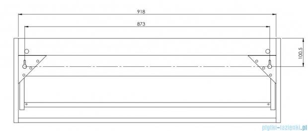 Antado Susanne szafka z umywalką Bali biała/blat grafit 95x46cm AS-140/95-WS+AS-B/2-140/95-73+UCS-TC-65