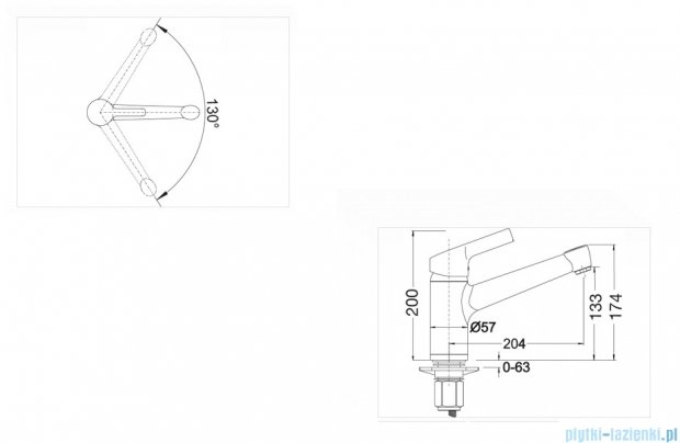 Blanco Elipso II   bateria wysokociśnieniowa kolor: tartufo 517625
