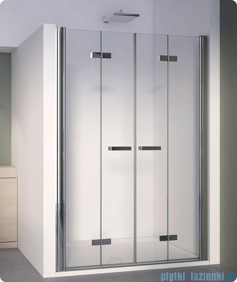 SanSwiss Swing Line F SLF2 Drzwi składane 120-180cm profil biały SLF2SM10407