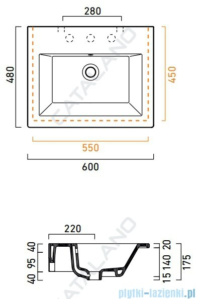 Catalano Star 60 umywalka 60x48 biała 160ST00