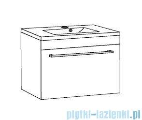 Antado Variete ceramic szafka z umywalką ceramiczną 62x43x40 szary połysk FM-AT-442/65-K917+UCS-AT-65