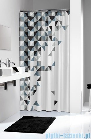 Sealskin Tangram Black zasłona prysznicowa tekstylna 180x200cm 235231319
