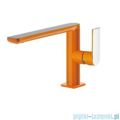 Tres Loft Colors Bateria umywalkowa z korkiem automatycznym kolor pomarańczowy 200.205.01.NA.D