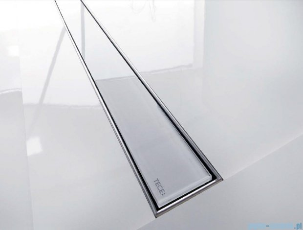 Tece Ruszt prosty ze szkła Tecedrainline 90cm szkło białe 6.009.91