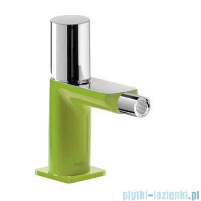 Tres Loft Colors Bateria bidetowa z korkiem automatycznym kolor zielony 200.120.02.VE.D