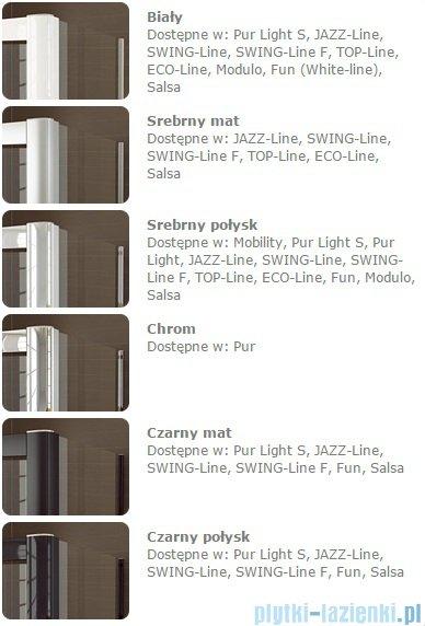 Sanswiss Melia MET3 Ścianka lewa z uchwytami i profilem 90-140/do 200cm pas satynowy MET3AGSM21051