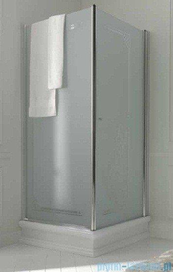 Kerasan Retro Kabina kwadratowa lewa szkło przejrzyste profile chrom 90x90 9147T0