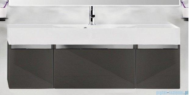 Antado Cantare szafka z umywalką 140x50x33 szary połysk 2xFSM-342/4GT-56/56+FSM-342/6GT-56/56+UNAM-1404C
