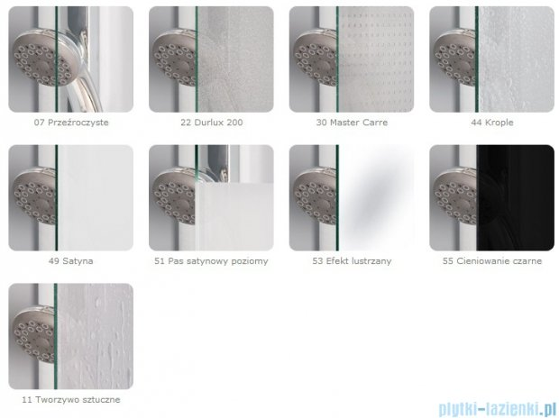 SanSwiss Top-Line Ted Drzwi 1-częściowe 90cm profil srebrny mat TED09000107