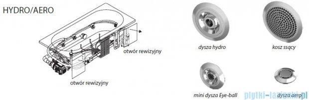 Riho Lyra wanna asymetryczna prawa 170x110 z hydromasażem TOP Hydro 6+4+2/Aero11 BA63T5