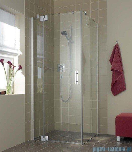Kermi Filia Xp Drzwi wahadłowe z polem stałym, lewe, szkło przezroczyste, profile srebrne 120x200cm FX1WL12020VAK
