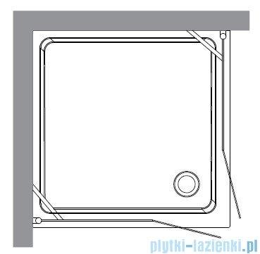 Kerasan Retro Kabina kwadratowa szkło piaskowane profile złote 100x100 9148S1