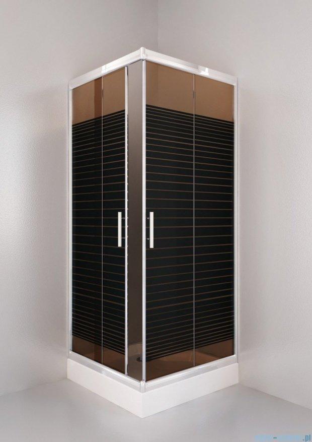 Sea Horse Sigma zestaw kabina natryskowa kwadratowa 90x90 szkło: A2 + brodzik BKZ2/3/QB/A2/