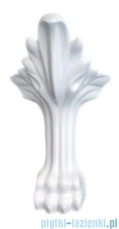 Besco Otylia 160x77cm Wanna owalna Retro biało-czarna+nogi białe