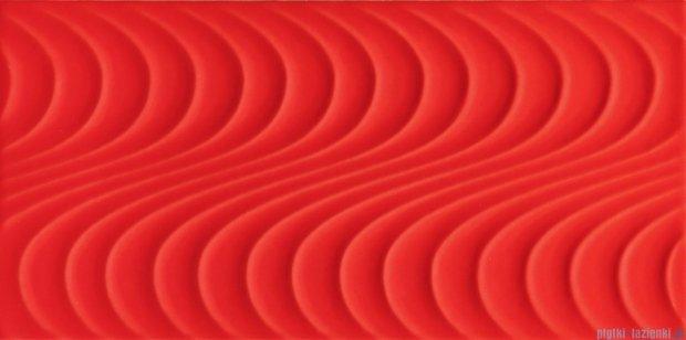 Tubądzin Wave red A płytka ścienna 22,3x44,8