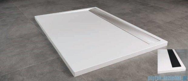 SanSwiss WIA Brodzik konglomeratowy prostokątny 90x160cm biały/czarny WIA901600604
