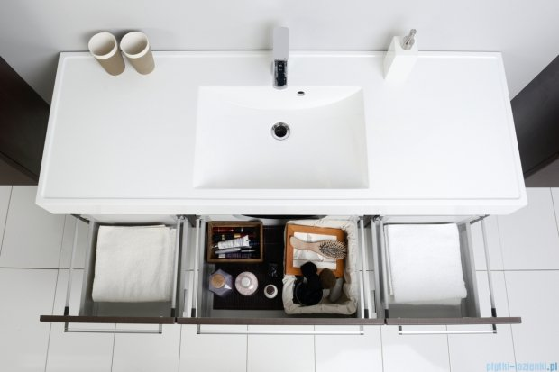 Antado Variete szafka z umywalką, wisząca 140 wenge mat 2xFDM-442/4 + FDM-442/6 + UNAM-1404C