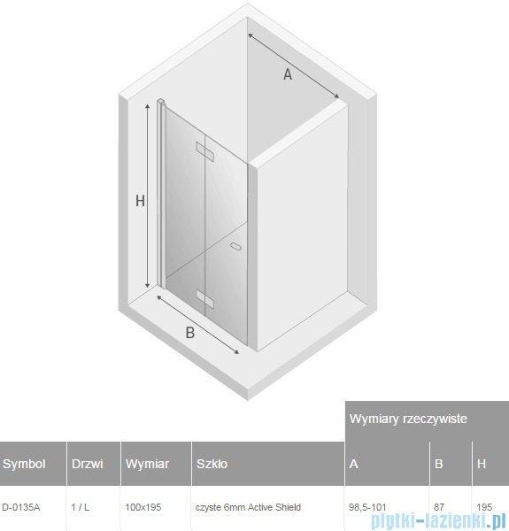 New Trendy New Soleo drzwi wnękowe bifold 100x195 cm przejrzyste lewe D-0135A