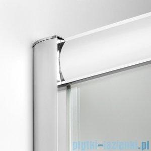 New Trendy Varia kabina półokrągła 90x90x185cm szkło grafit K-0188