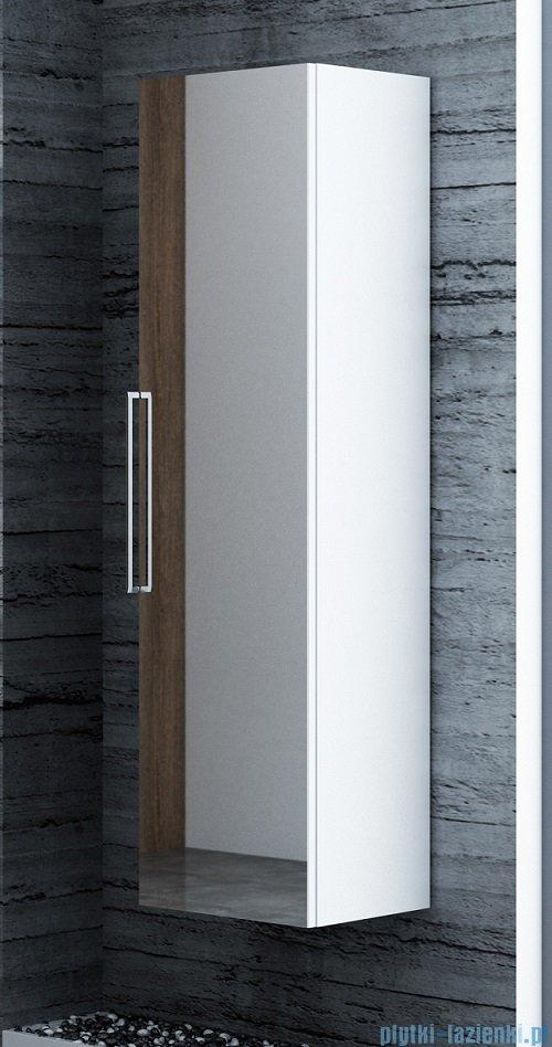 Antado Susanne słupek wysoki z lustrem i szufladami 35x34cm biały połysk AS-163-WS