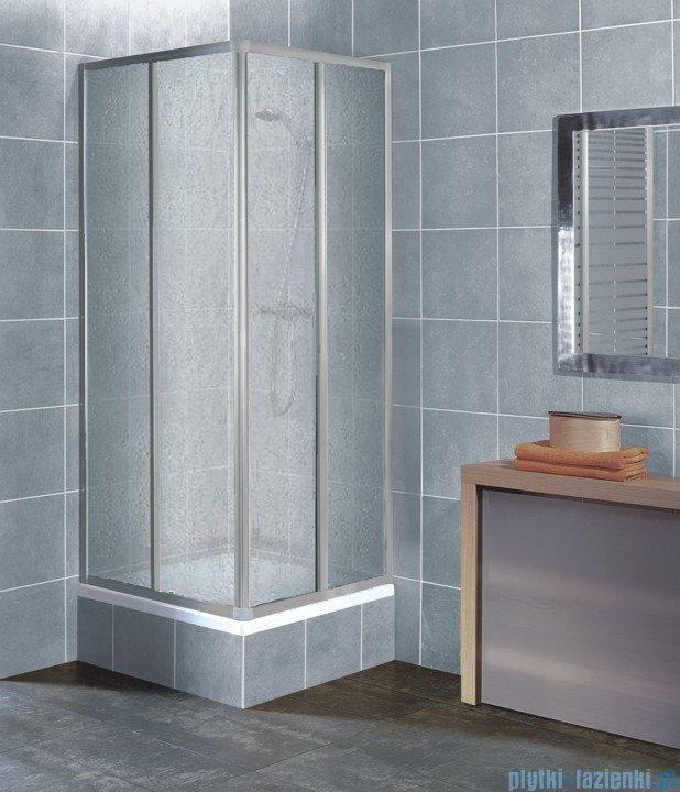 Aquaform Variabel kabina prysznicowa kwadratowa polistyren profil chrom mat 26910