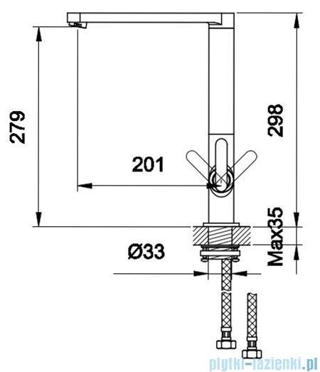 Kohlman Boxine bateria kuchenna wysoka chrom QB140B