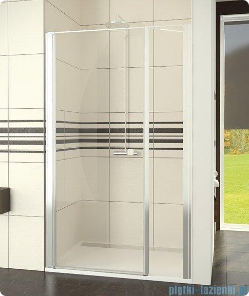 SanSwiss Swing-Line Drzwi 1-częściowe ze ścianką stałą w linii 80cm SL3108000107