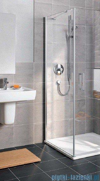 Kermi Gia XP Ściana boczna, lewa, szkło przezroczyste, profile srebro mat 80x185cm GXTWL080181AK