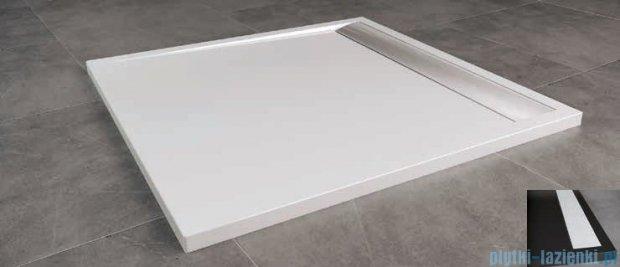 SanSwiss Ila WIQ Brodzik kwadratowy 90x90cm kolor czarny/biały WIQ09004154
